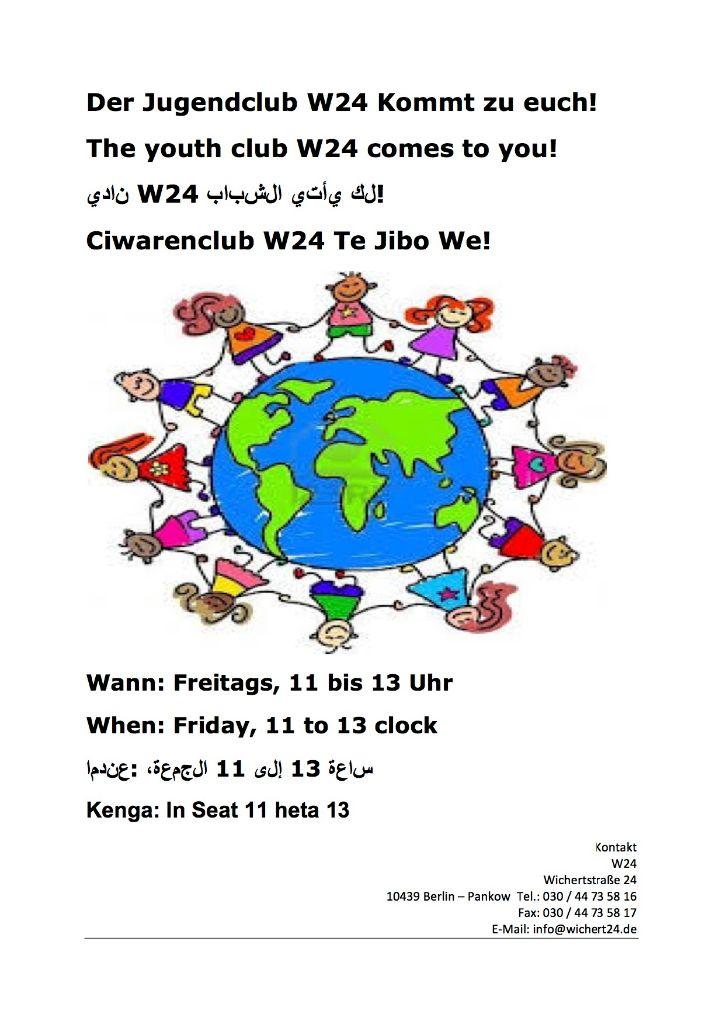 Der Jugendclub W24 Kommen zu euch
