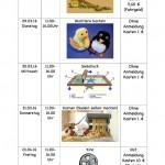 Programm für die Osterferien2